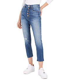 Alicia High-Rise Button-Fly Mom Jeans