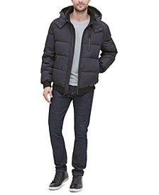 Men's Soft Touch Hooded Bomber Puffer Jacket
