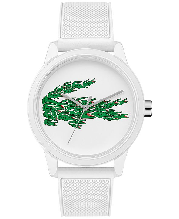 Lacoste Men's 12.12 White Silicone Strap Watch 42mm