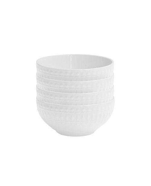 Jay Imports Elle Decor Amelie Set of 4 White Bowls