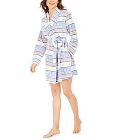 Women's Cozy Short Fleece Robe