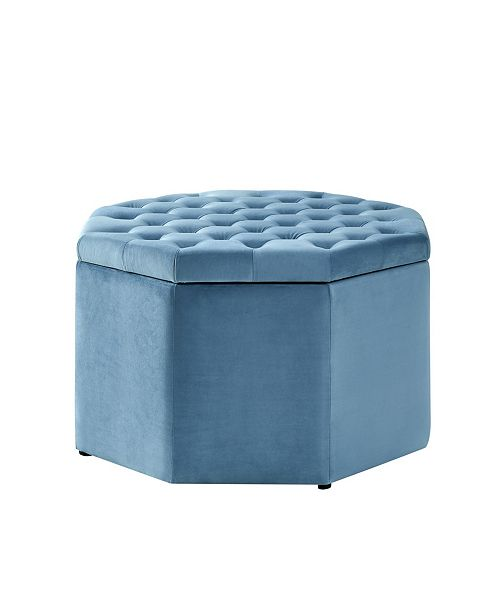 Astonishing Silvia Upholstered Tufted Octagon Cocktail Ottoman Machost Co Dining Chair Design Ideas Machostcouk