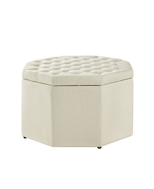 Groovy Silvia Upholstered Tufted Octagon Cocktail Ottoman Machost Co Dining Chair Design Ideas Machostcouk