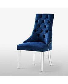 Marilyn Button Tufted Dining Chair with Acrylic Legs Set of 2