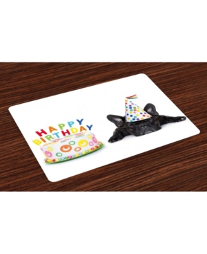 Ambesonne Birthday Party Place Mats, Set of 4