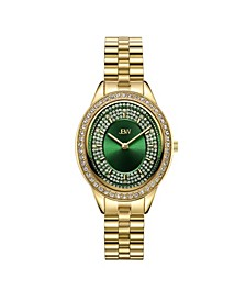 Women's Bellini Diamond (1/6 ct. t.w.) Watch in 18k Gold-plated Stainless-steel Watch 30mm