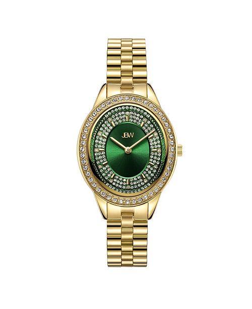 Jbw Women's Bellini Diamond (1/6 ct. t.w.) Watch in 18k Gold-plated Stainless-steel Watch 30mm
