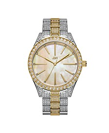 Women's Cristal Gem Diamond (1/8 ct. t.w.) Watch in 18k Gold-plated Stainless-steel Watch 39mm