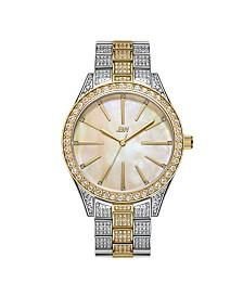JBW Women's Cristal Gem Diamond (1/8 ct. t.w.) Watch in 18k Gold-plated Stainless-steel Watch 39mm