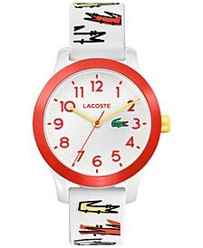 Kid's 12.12 White Logo Strap Watch 32mm