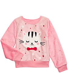Evy of California Toddler Girls Cat Sweatshirt