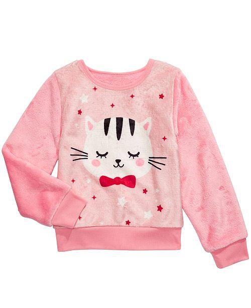 Evy of California Toddler Girls Cat Sweatshirt