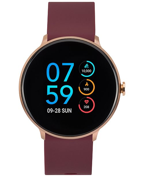 iTouch Sport Burgundy Silicone Strap Touchscreen Smart Watch 43.2mm