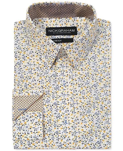 Nick Graham Men's Modern-Fit Floral Shirt