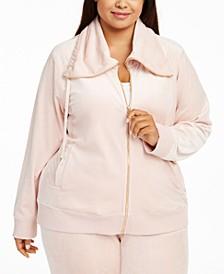 Plus Size Funnel-Neck Jacket