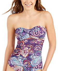 Captiva Paisley Twist-Front Tankini Top