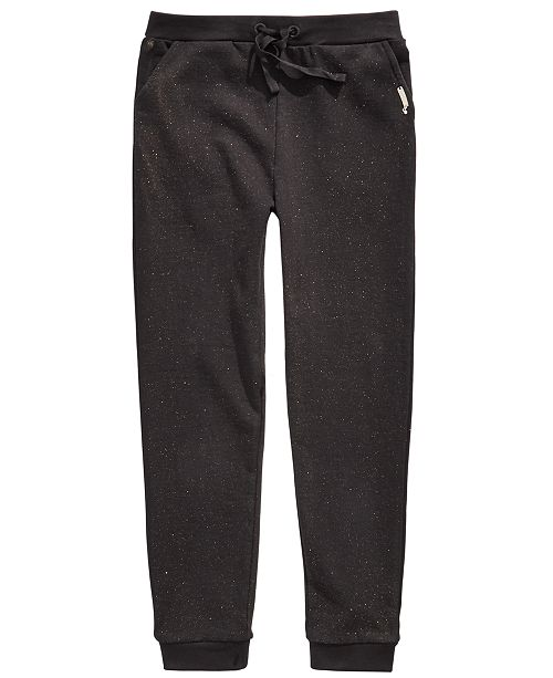 GUESS Big Girls Knit Terry Glitter Jogger Pants