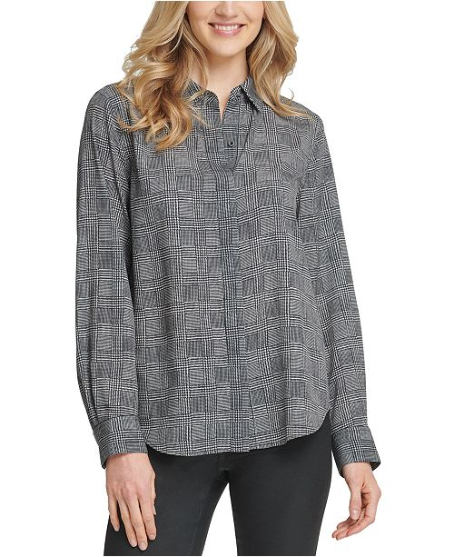 DKNY Glen Plaid Shirt