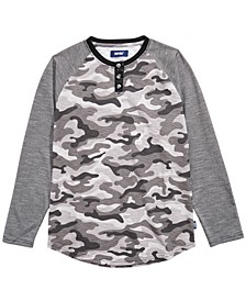 Big Boys Rory Colorblocked Camo Henley
