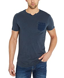 Men's Split-Neck Pocket T-Shirt