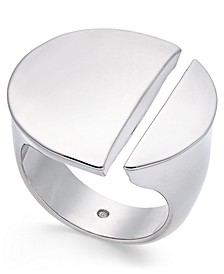 Silver-Tone Split Circle Ring, Created For Macy's