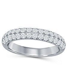 Diamond (5/8 ct. t.w.) French Pave Two Row Band in 14K White Gold