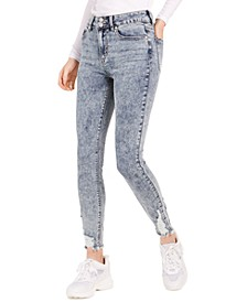 Juniors' Ripped Acid-Wash Skinny Jeans