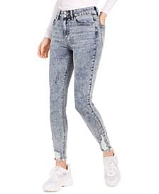 Juniors' Ripped Acid-Wash Skinny Jeans