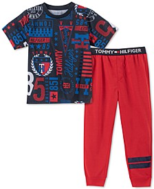 Toddler, Little & Big Boys 2-Pc. Collegiate Pajama Set