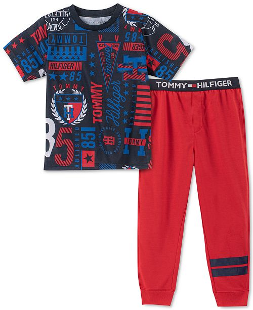 Tommy Hilfiger Toddler, Little & Big Boys 2-Pc. Collegiate Pajama Set