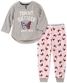 Toddler, Little & Big Girls 2-Pc. Butterfly Pajama Set