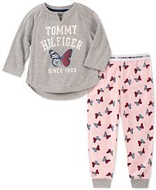 Tommy Hilfiger Toddler, Little & Big Girls 2-Pc. Butterfly Pajama Set
