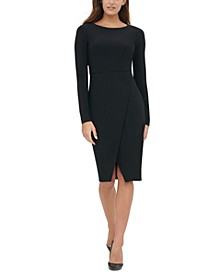 Asymmetrical Solid Jersey Dress