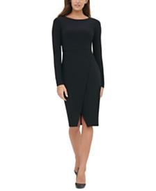 Tommy Hilfiger Asymmetrical Solid Jersey Dress