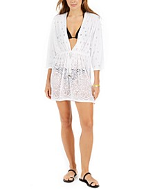 Gypsy Gem Crochet Tunic Cover-Up