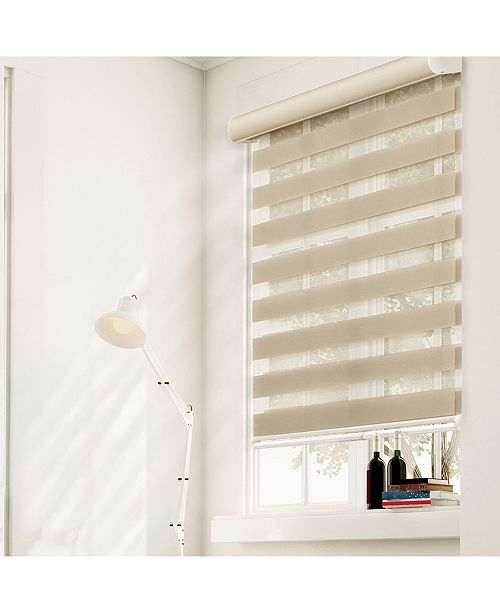 "Chicology Cordless Zebra Shades, Dual Layer Combi Window Blind, 63"" W x 72"" H"