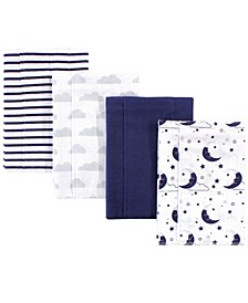 Layered Flannel Burp Cloth, 4 Pack