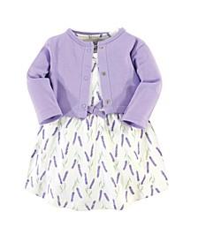 Baby Girl Organic Dress and Cardigan Set, 2 Piece