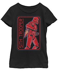 Star Wars Big Girls Rise of Skywalker Sith Trooper Jet Pack T-Shirt