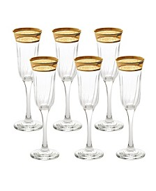 Flute Melania Collection Amber - Set of 6