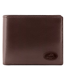 Manchester Collection Men's RFID Secure Center Wing Wallet