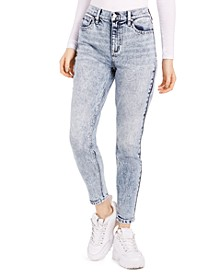 Juniors' Acid-Wash Skinny Ankle Jeans