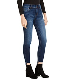 Connie High-Rise Step-Hem Skinny Jeans