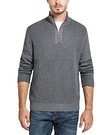 Weatherproof Vintage Men's Waffle Texture Quarter-Zip Sweater