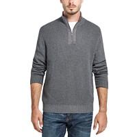 Weatherproof Vintage Men's Waffle Texture Quarter-Zip Sweater