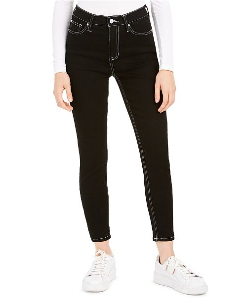 Celebrity Pink Juniors' Colored-Wash Skinny Ankle Jeans