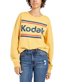 Juniors' Kodak Cropped Graphic Sweatshirt
