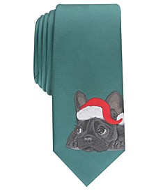 Men's Santa Bulldog Skinny Holiday Tie, Created For Macy's