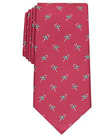 Men's Classic Candy Canes Neat Tie, Created For Macy's