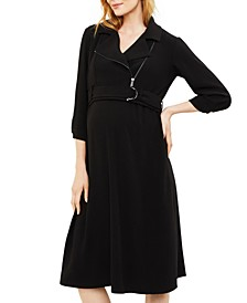 Maternity Nursing Belted Dress